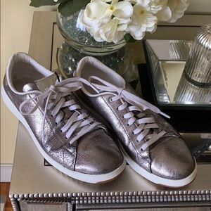 Cole Hann pewter metallic sneakers